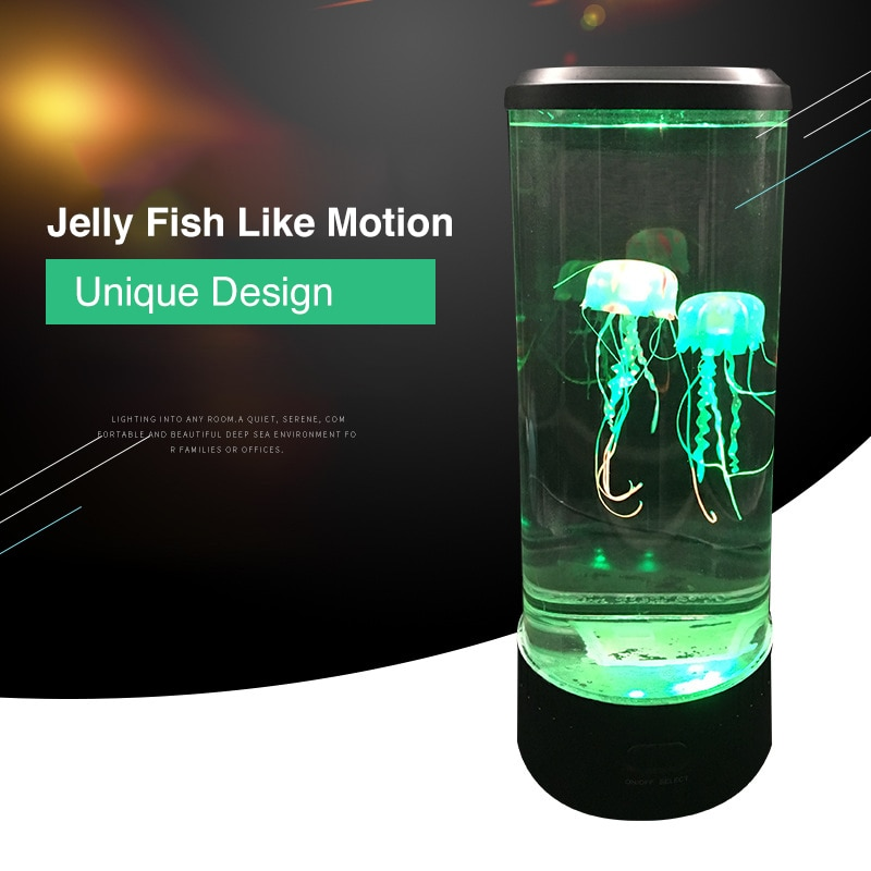 LED Remote Control Fantasy Jellyfish Lamp USB/Battery Powered Color Changing Jellyfish Tank Led Lamp Relaxing Mood Night Light enlarge
