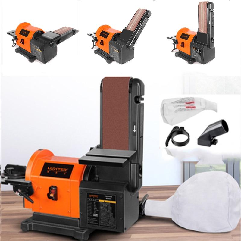 Máquina de Moagem Lixadeira para Trabalhar Lixadeira Polimento Cinto Abrasivo Madeira Multifuncional Desktop Ferramentas Elétricas 900 w 220v