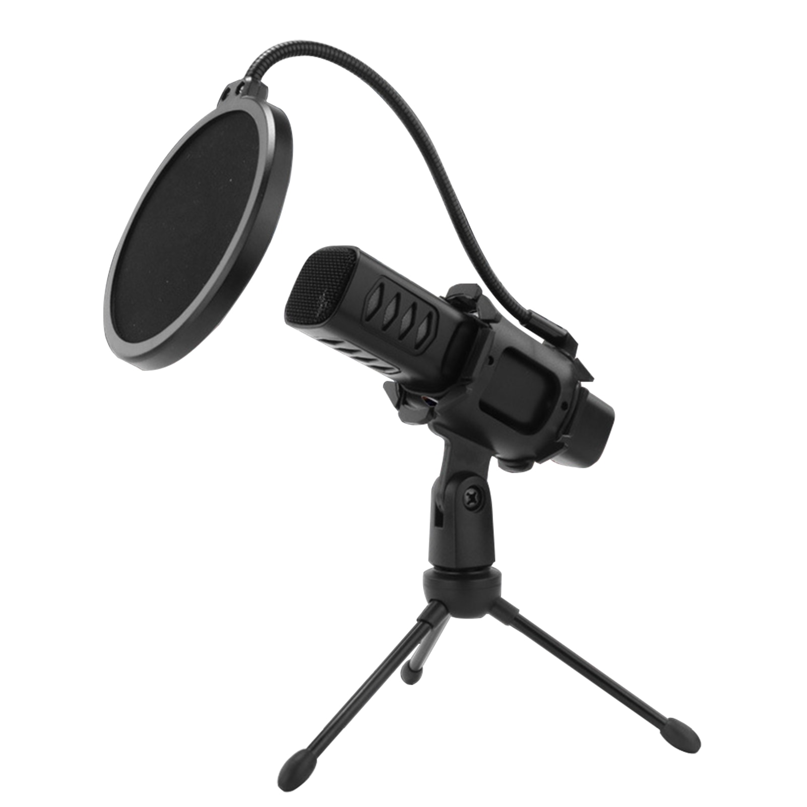 For Gaming Multifunctional With Tripod Stand USB Microphone Cardioid Condenser 90 degree adjustment enlarge
