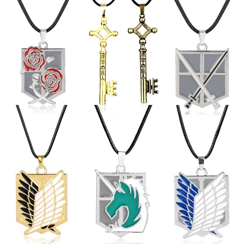 Ожерелье-«атака-на-Титанов»-аниме-Эрена-ключ-ожерелье-«no-подвеска-kyojin»-ожерелье-с-знаком-«Крылья-свободы»-ожерелье-фанаты-Косплея