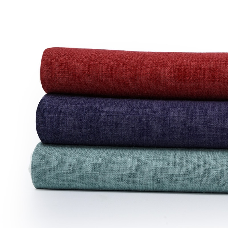 Японский 100% рами slub ткани натурального волокна ткани для шитья рубашки или брюки 50*145 см/шт W300218