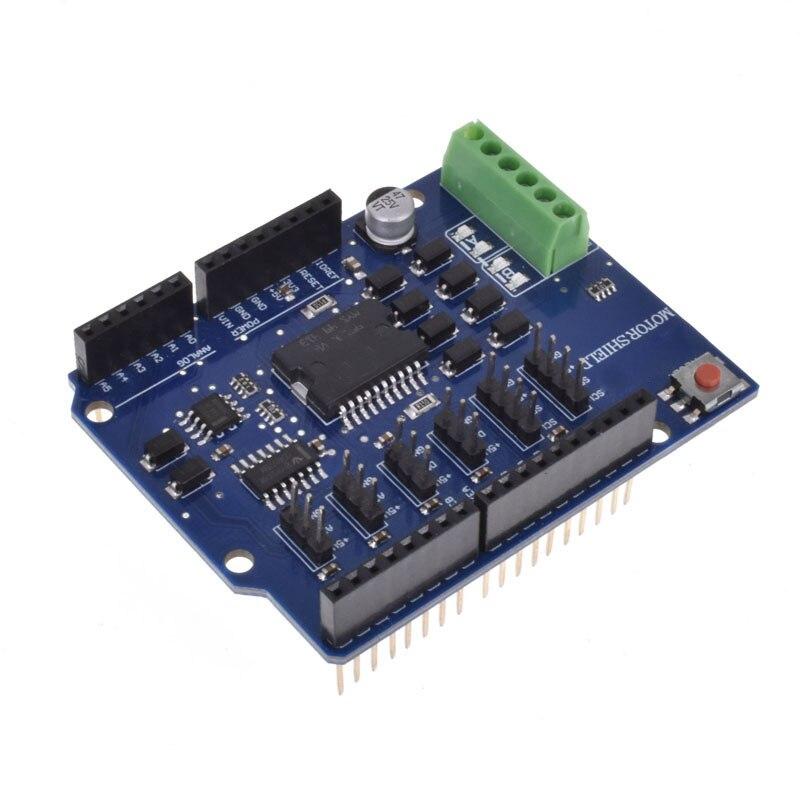 L298N L298P R3 модуль драйвера двигателя постоянного тока Щит двигателя R3 5 в 12 В 2A h-мост 2 способ для Arduino UNO 2560