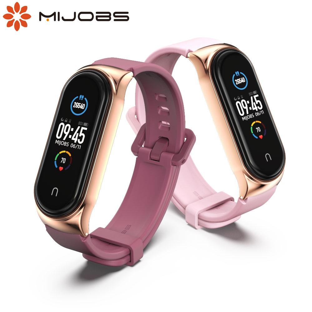 Strap For Xiaomi Mi Band 5 4 3 6 Silicone Wristband Bracelet Replacement For Xiaomi Band 4 MiBand 5 4 3 Wrist Color TPU Strap