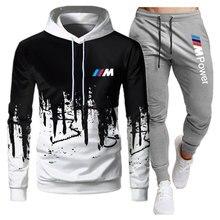 Комплекты из 2 предметов спортивный костюм для мужчин с капюшоном толстовка с капюшоном + штаны, пуловер с капюшоном спортивный костюм Ropa Hombre повседневная мужская одежда Размеры S-3XL