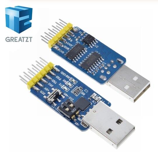 GREATZT nuevo USB CP2102 a TTL RS232 USB TTL a RS485 Mutual convertir 6 en 1 Convertir módulo bueno