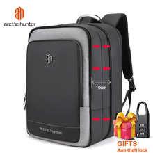 ARCTIC HUNTER 40L вместительные мужские расширяемые рюкзаки с usb-зарядкой, мужские сумки для ноутбука 17 дюймов, водонепроницаемая деловая дорожная ...