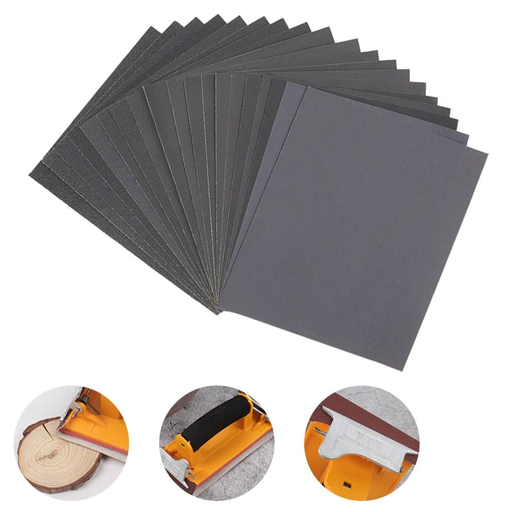 10 шт. шлифовальная бумага для влажной и сухой работы, двойного использования, ручная работа, деревообработка автомобилей, полировка металла...