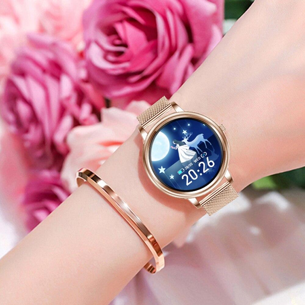 Reloj inteligente para mujer 2020, reloj inteligente Android IOS para mujer, reloj deportivo personalizado para mujer, Fitness para mujer, Whatsapp Push MK 20 Smart