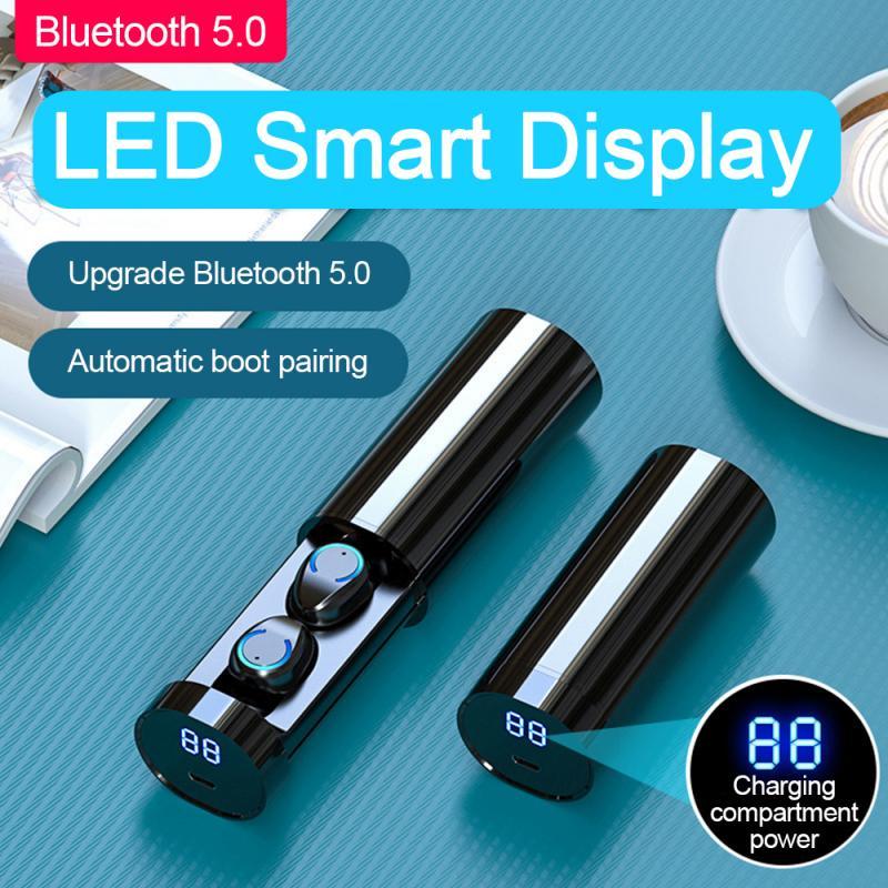 TWS F9-6 Bluetooth Earphone 5.0 Wireless Earbuds 3D Stereo Mini With Dual Mic Sports Waterproof Earphones Auto Pairing Headse
