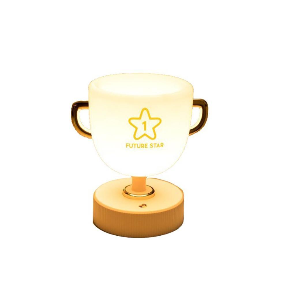 LED Night Lights Trophy-shaped Pen Holder Table Lamp Desktop Reading and Learning Atmosphere Lamp Household USB Night Light