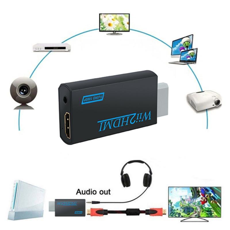 Adaptador convertidor Full HD 1080P compatible con Wii, convertidor de Audio Wii2...
