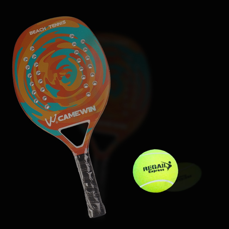 Carbon Beach Tennis Paddle Racket Soft EVA Face Racquet With Bag And 1PC Ball Adult Professional Outdoor Sporting Goods Padle