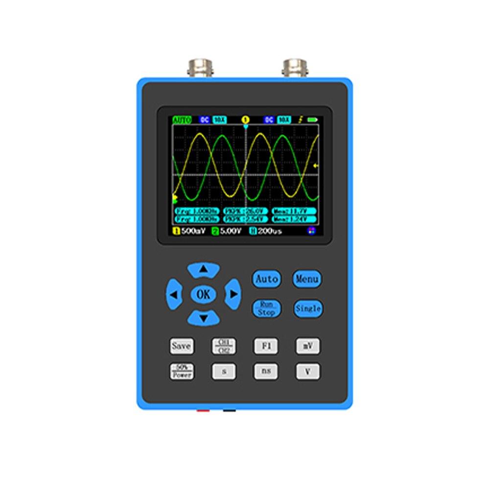 جهاز ذبذبات DSO2512G عرض النطاق الترددي 120 متر ذبذبات ثنائية القناة 2.8 بوصة عرض مخرج ARM + FPGA + ADC مزود بثلاثة أوضاع تشغيل