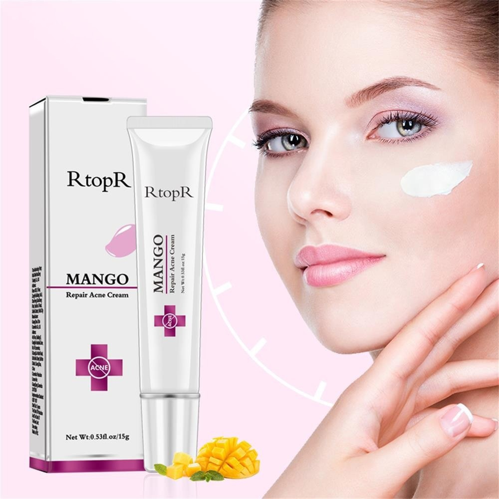 Купить с кэшбэком Mango Repair Acne Cream Anti Spots Acne Treatment Scar Blackhead Cream Shrink Pores Whitening Moisturizing Face Skin Care NEW
