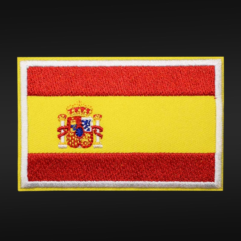 Parche de bandera bordado Nacional de España, parches para planchar ropa, parches DIY para bolso, sombrero, parches con insignias para prendas, pegatinas, venta al por mayor