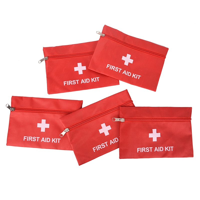 1pcs Portable Red Waterproof First-aid Bag Outdoor First Aid Kit Bag for Emergency Treatment in Travel and At Home