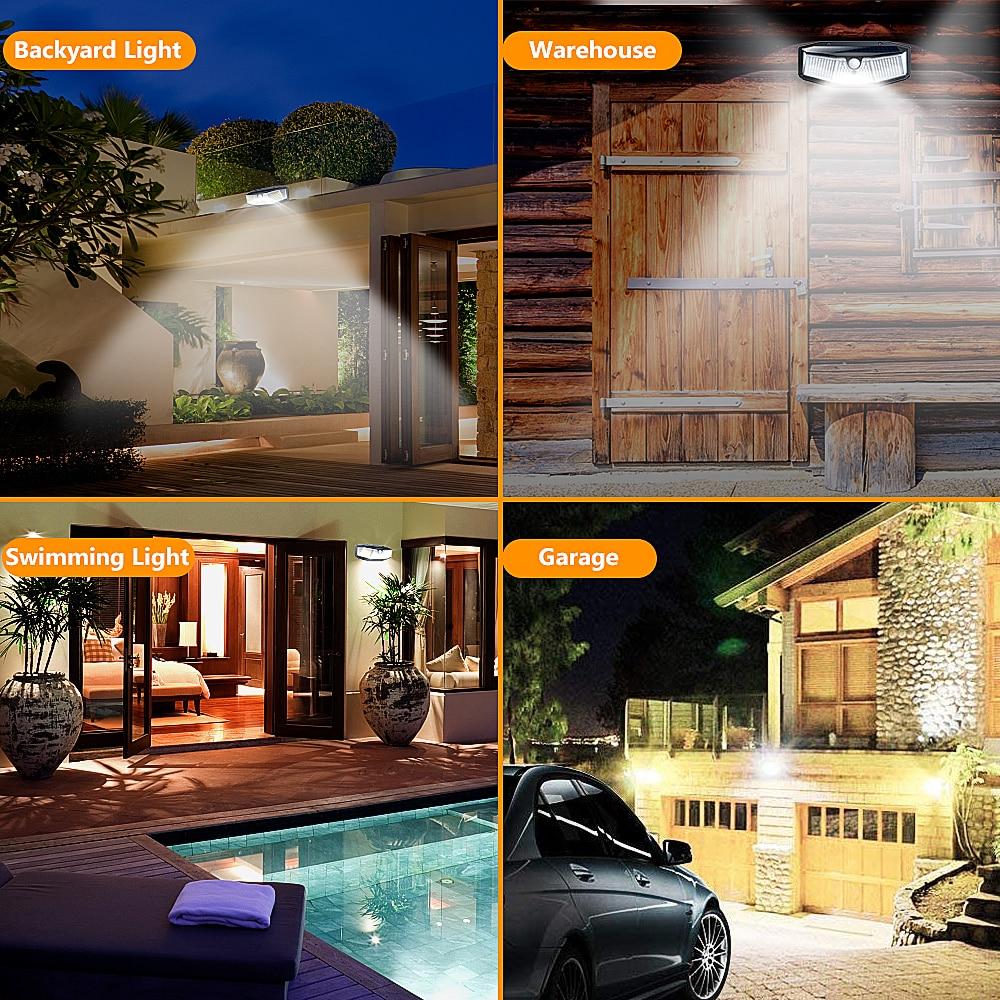 308 180 100 LED Solar Light Outdoor Solar Lamp with Motion Sensor Light SunLight Street Lamp LED Spotlight for Garden Decoration enlarge
