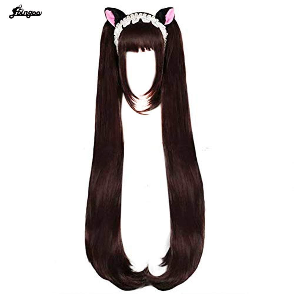 AliExpress - Ebingoo Chocola NEKOPARA Cosplay Wig Chocolate Heat Resistant Synthetic Hair Chocola Cosplay Hair