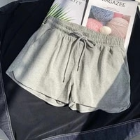 women shorts summer casual solid drawstring shorts high waist loose shorts for girls soft cool female short s 3xl