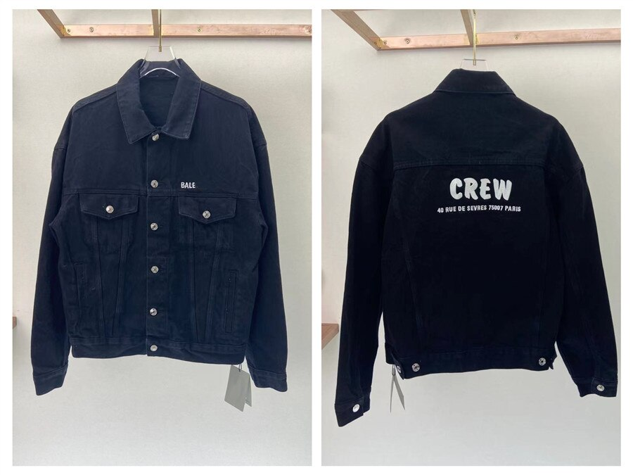 2021 Paris Spring and summer Fashion Hip Hop Denim Jacket Male Cowboy Ripped Hole European Size S~XL 151