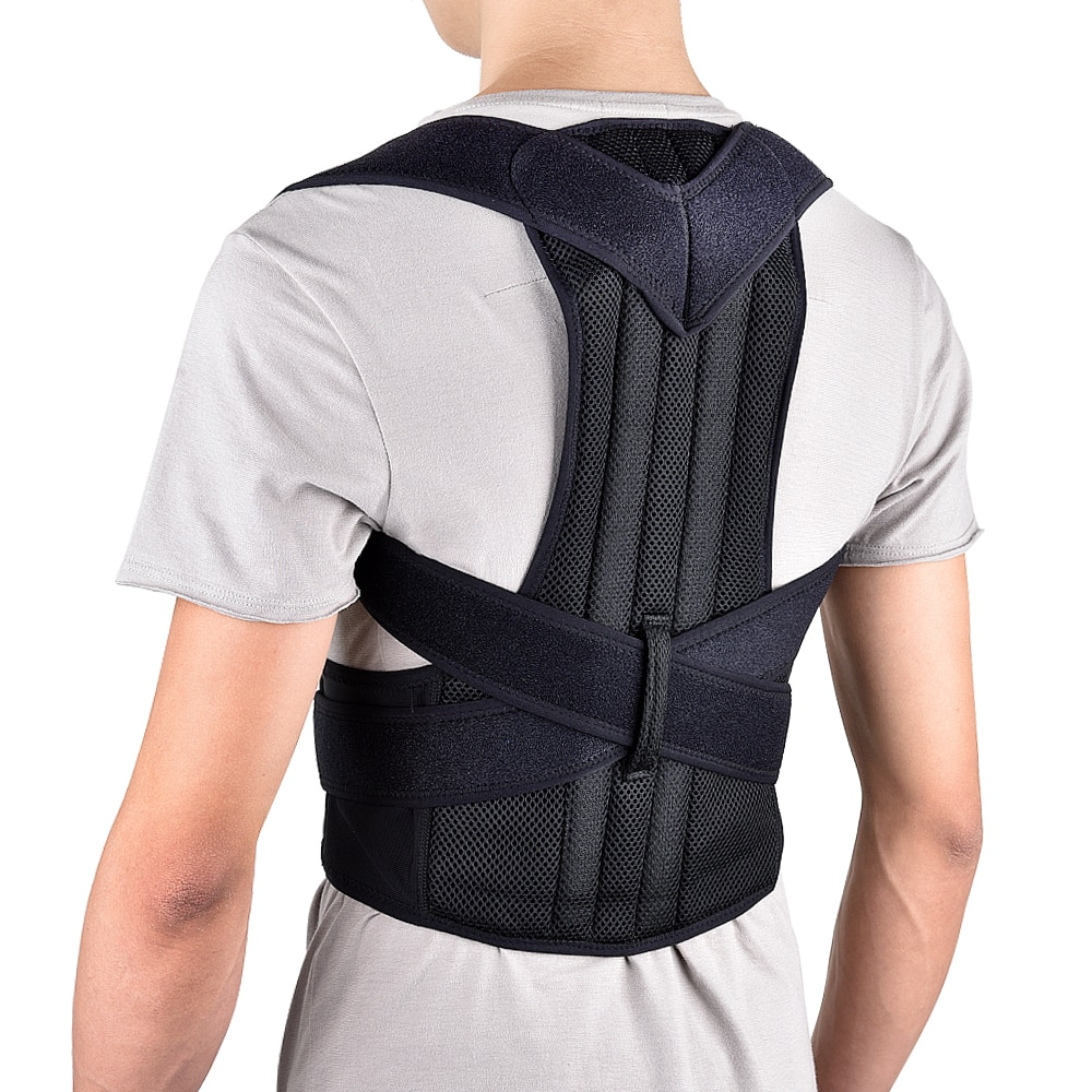 Back Posture Belt Corrector Posture Correction Belt Shoulder Lumbar Brace Spine Support Adjustable A