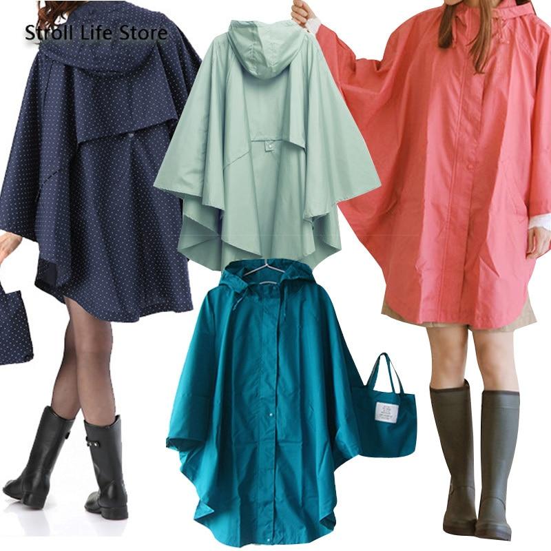 Poncho de pluie japonais imperméable femmes adulte extérieur imperméable randonnée voyage coupe-vent femmes veste de pluie Casacas Para Mujer cadeau