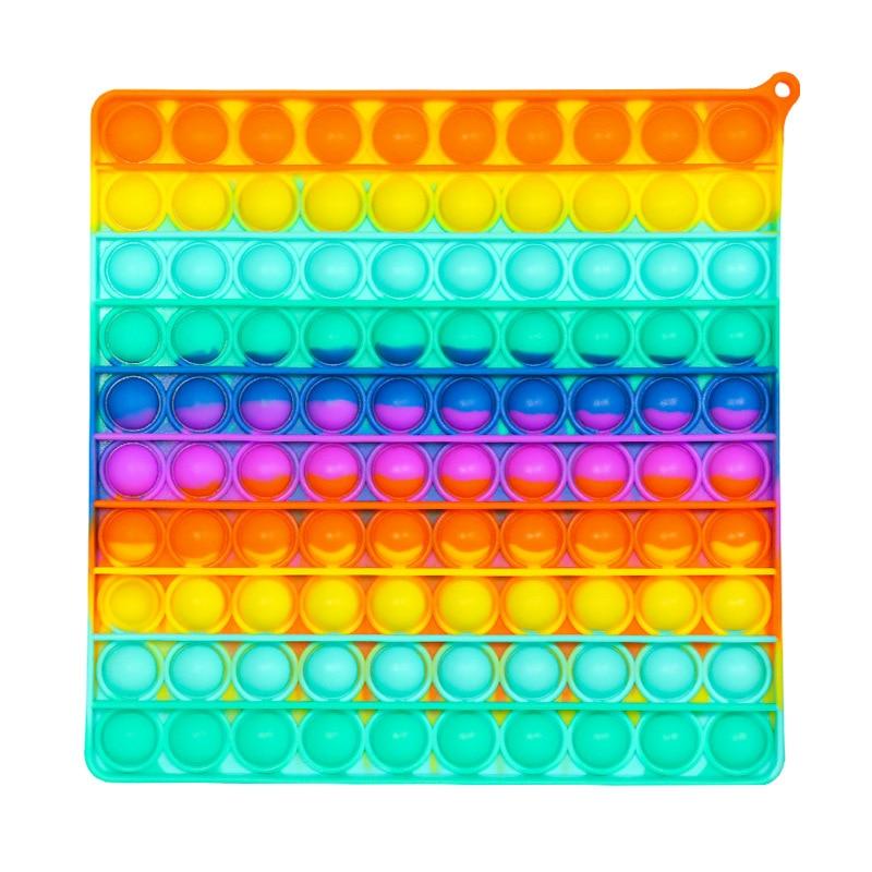 Large Size 20CM Big Pop it Rainbow Push Bubble Fidget Toys Oversize Sensory Regenboog Stress Reliever Toy Poppit Kids Gift enlarge