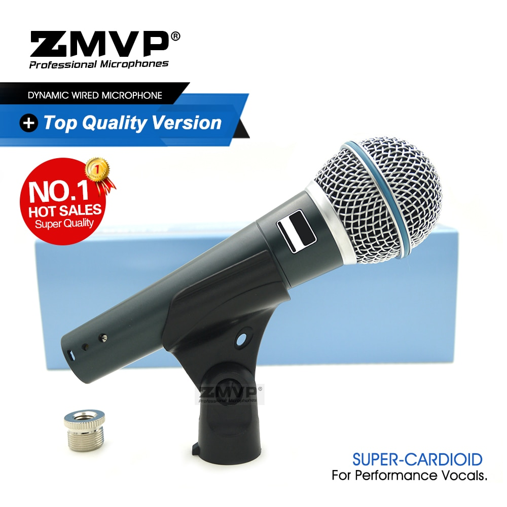 Grade A Professional BETA58A Performance Live Vocals Dynamic Wired Microphone BETA 58A Mic For Karaoke Stage Studio Voiceover