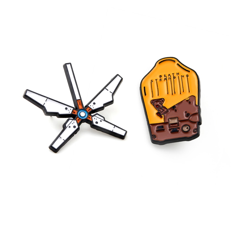 Game Death Stranding Game Backpack Brooch Badges Enamel Metal Brooches Pins Collectibles Gift Cospla