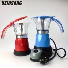 300ml Elektrische Kaffee Maker Aluminium Material Percolator Kaffee Moka Topf Mokka kaffee Maschine v60 Kaffee Filter Espresso Maker