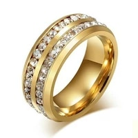 2020 fashion zircon stainless steel ring of men accessories gold color wedding ring lovers women men fashion jewelry wholesale
