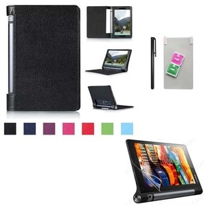 """Folio Holder PU Leather Case Cover  F 8"""" for  Lenovo Yoga Tab 3 8.0 850F Tablet Stand Cases  + free Film + free Stylus"""