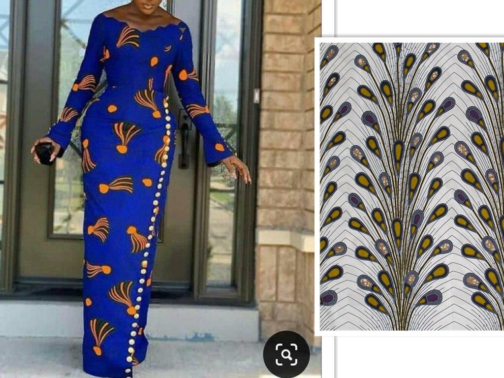Vestido africano de manga larga para mujer