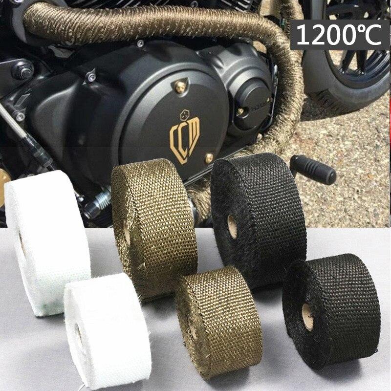 Теплоизоляционная Стекловолоконная лента, глушитель для автомобилей и мотоциклов для Zx10R 2016 Nc700X Crf 230 S1000Xr Crf 450 Mt07 Pcx 125 Cb125R
