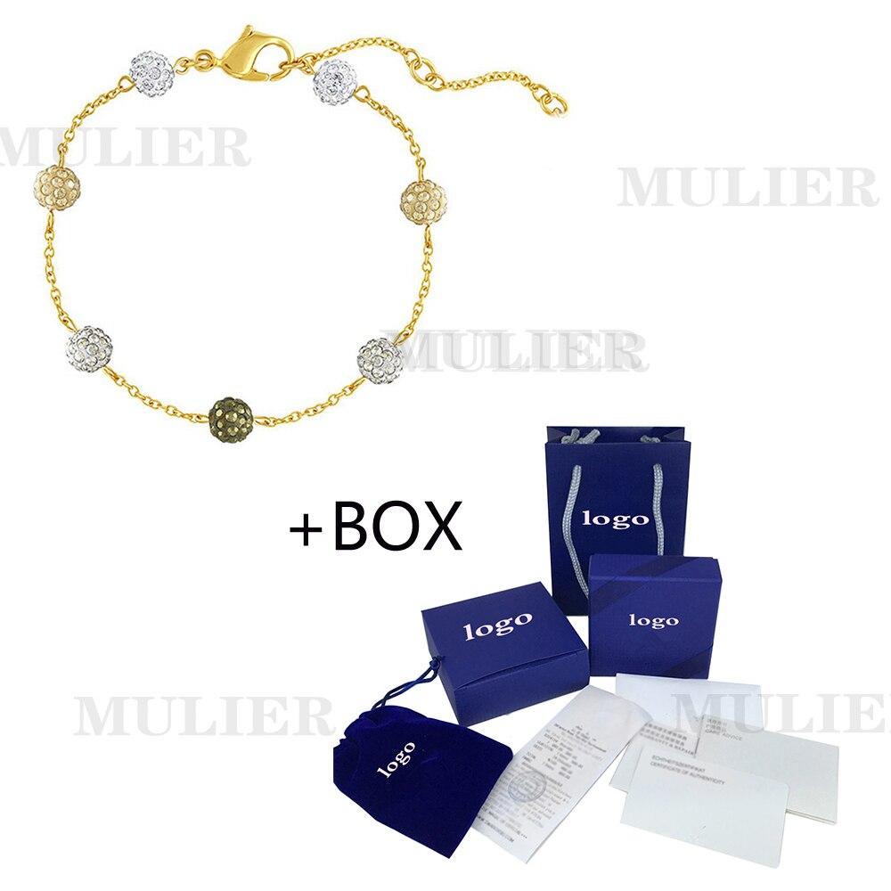 SWA 2019 MULIER, nueva pulsera Multicolor con forma de burbuja, pulsera de cristal, pulsera para novia, joyería de regalo de aniversario