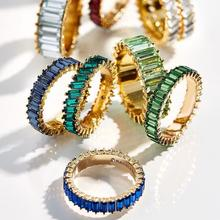 Miwens 2020 Bauble Bar Rainbow CZ Twist Mini Rings for Women Romantic Heart Finger Ring Bohemia Cubic Zirconia Bridal Jewelry