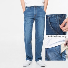 42 44 46 48 large size men's loose denim jeans autumn and winter brand clothing high quality anti-th