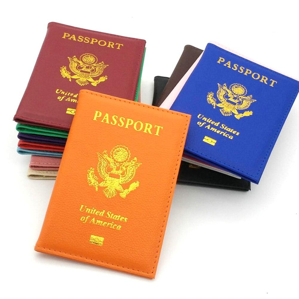 Американский держатель для паспорта, американские обложки для паспорта, для девушек, для путешествий, из искусственной кожи, индивидуальны...