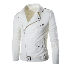 Autumn Men's PU Leather Jacket For Men Fitness Fashion Male Suede Jacket Masculino Casual Coat Male