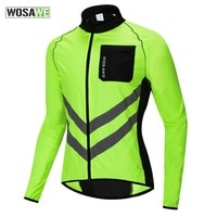 WOSAWE Men's Windbreaker Reflective Jacket Windproof Cycling Jacket Women Rainproof MTB Road Bicycle High Visibility Rain Jacket