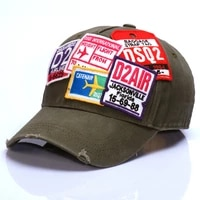 2021 fashion brand new d2 baseball cap mens and womens casual cotton embroidered washed hat d42