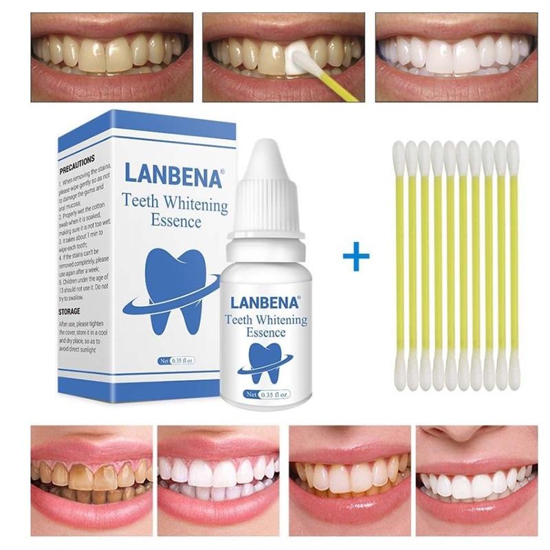 LANBENA Blanqueamiento Dental polvo limpieza e higiene bucal suero elimina las manchas de placa Blanqueamiento Dental pasta Dental para ahumador