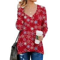 autumn new fashion printed double sided zipper v neck stitching womens long sleeve t shirt ladies loose casual street pullover