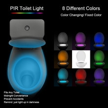 Children 8 Colors Waterproof Toilet LED WC Toilet Lamps Luminaria Bedside Backlight Smart PIR Motion Sensor Toilet Night Light