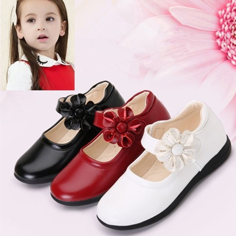 pink black red children girls shoes for kids student leather shoes school black dress shoes girls 4 5 6 7 8 9 10 11 12 13 14t Black Leather Shoes for Girls Kids School Leather Shoes For Student Black Dress Shoes Big Girls Princess Single Shoes 4-16T