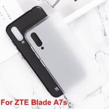 For ZTE Blade A7s Cases Silicone Cover Soft TPU Matte Pudding Black White Mobile Phone Protective Shell For ZTE Blade A7S Cases