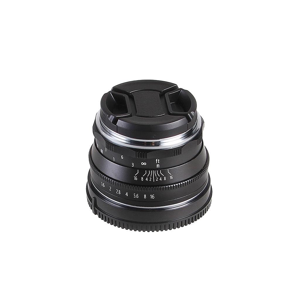 35mm F/1.6 Manual Focus MF Prime Lens for Fujifilm Fuji X-mount XH1 XA5 XA10 XA20 XE3 XE2S XT10 XT20 XT2 XPRO2 Mirrorless Camera