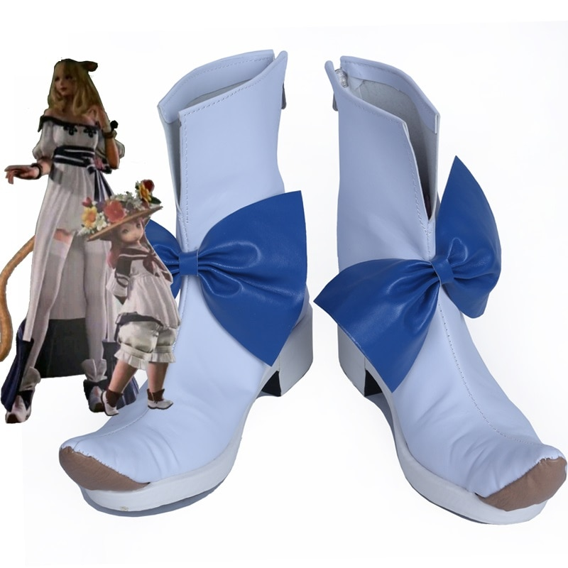 أحذية تنكرية للجنسين مصنوعة حسب الطلب ، تأثيري أنيمي فاينل فانتسي XIV FF14
