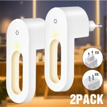 2pcs Plug-in Luce di Notte LED Bianco Caldo Luci Notturne Dusk to Dawn sensore Per Camera da letto bagno Corridoio Cucina scale EU/Spina DEGLI STATI UNITI