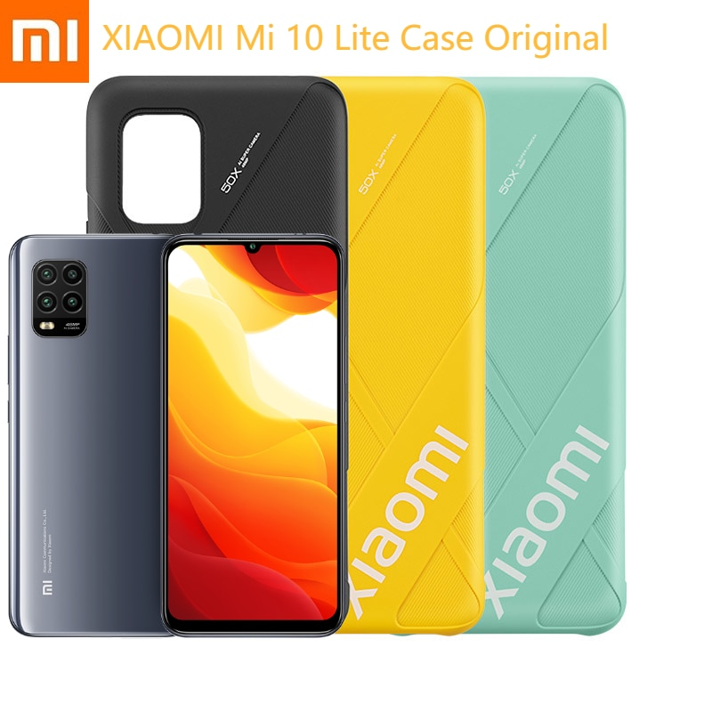 "Xiaomi Mi 10 Lite Phone Cases Original Luxury Plain 6.57"" Xaomi Smartphone Protective Shell Comfortable Grip For Xiomi Phone"